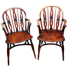 Antique Windsor Chair Identification Small Reading Pair Of Yewood Draught Back Chairs At 1stdibs