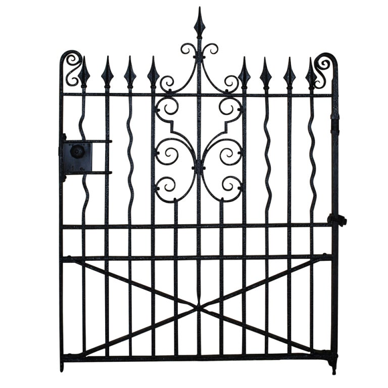 A Well Made Edwardian Wrought Iron Garden Gate at 1stdibs