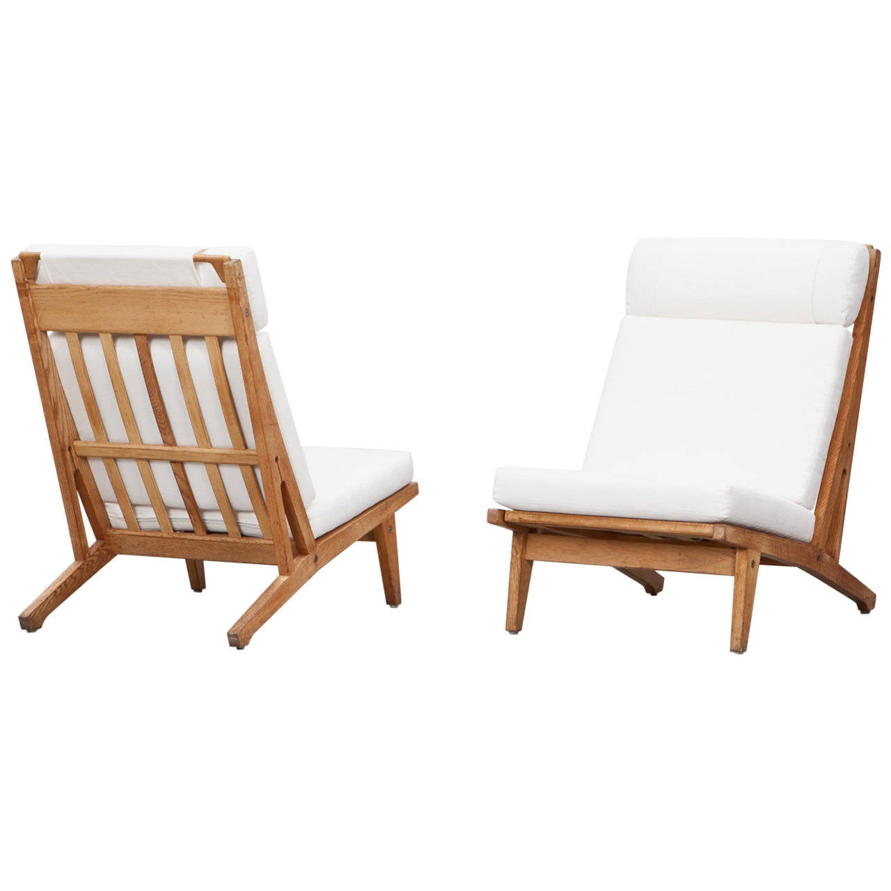 white lounge chair cushions wedding hire nz hans wegner chairs with new