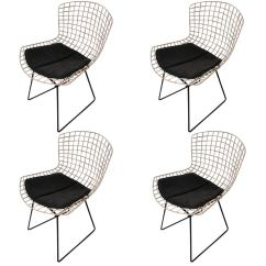 Bertoia Wire Chair Original Barcelona Cushions Set Of Four Harry Knoll Chairs At 1stdibs For Sale