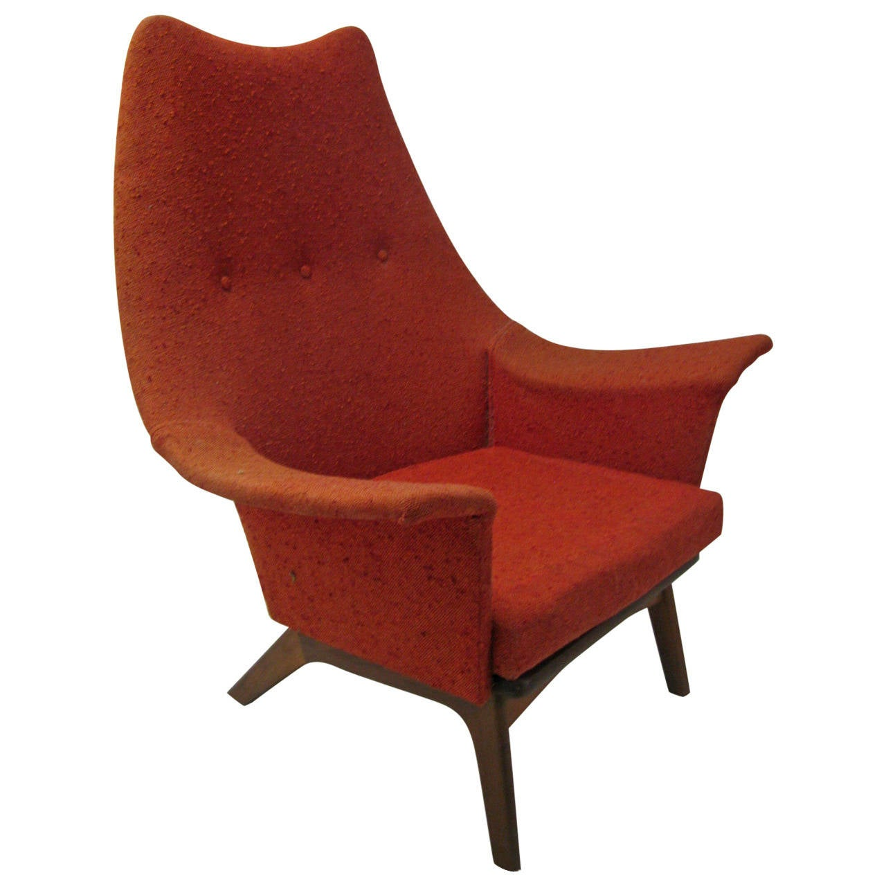 modern wingback chairs for sale wooden ladder back mid century wing chair by adrian pearsall