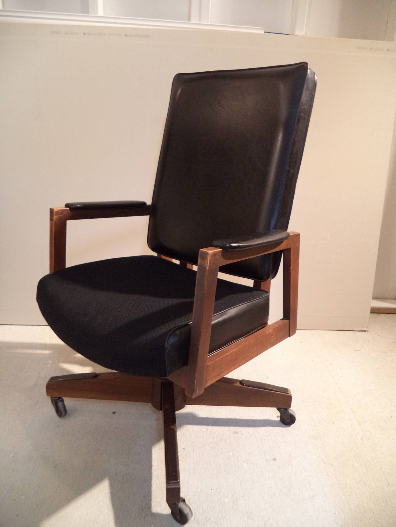 mid century modern desk chair a gaming executive at 1stdibs