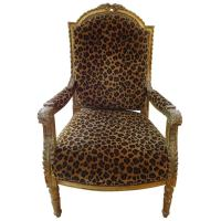 Antique French Gilded Leopard Chair at 1stdibs