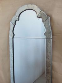 Arched Top Venetian Beveled Panel Mirror at 1stdibs