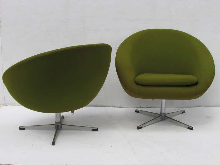 swivel pod chair ikea computer overman chairs esa mobelvaerk denmark at 1stdibs scandinavian modern for sale
