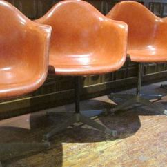 Eames Bucket Chair Japanese Table And Chairs Salmon Fiberglass Swivel At 1stdibs
