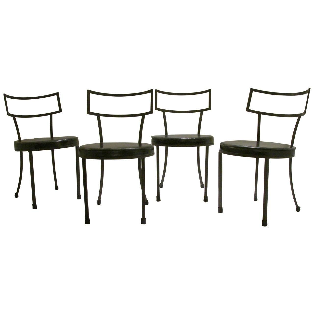 Iron Klismos Chairs At 1stdibs