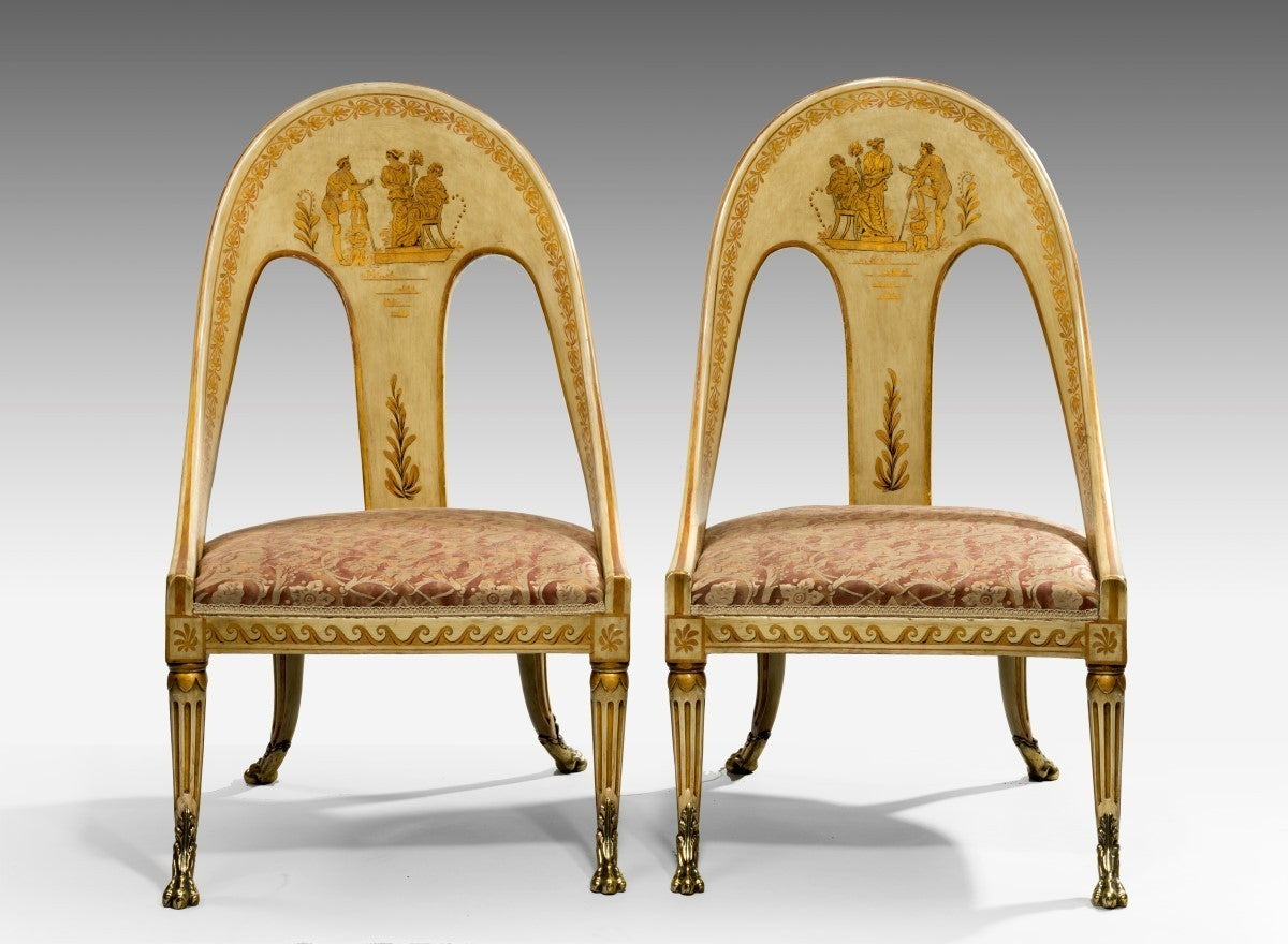 Roman Chairs Pair Of Antique Roman Style Chairs For Sale At 1stdibs