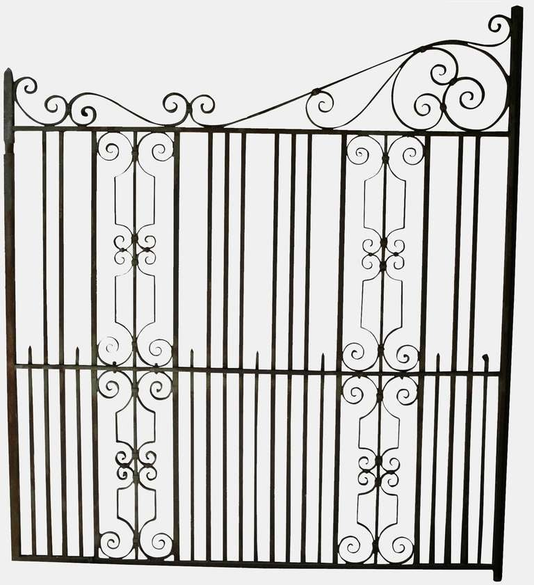 Pair of Heavy Iron Gates at 1stdibs