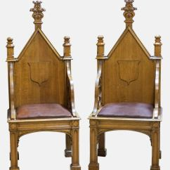 Throne Chair For Sale Easy Exercises Seniors Dvd Pair Of Gothic Chairs At 1stdibs