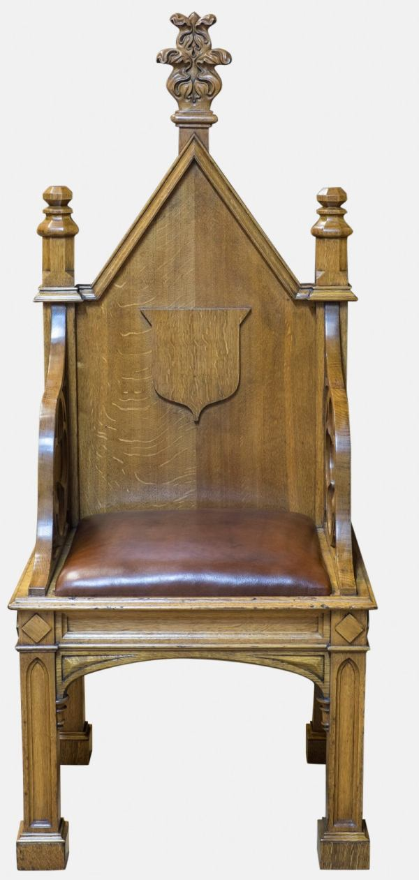 Pair Of Gothic Throne Chairs 1stdibs