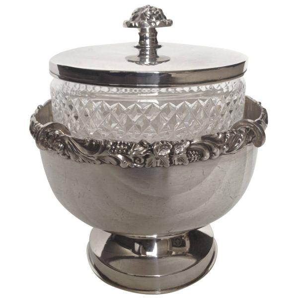 Antique Silver Caviar Server