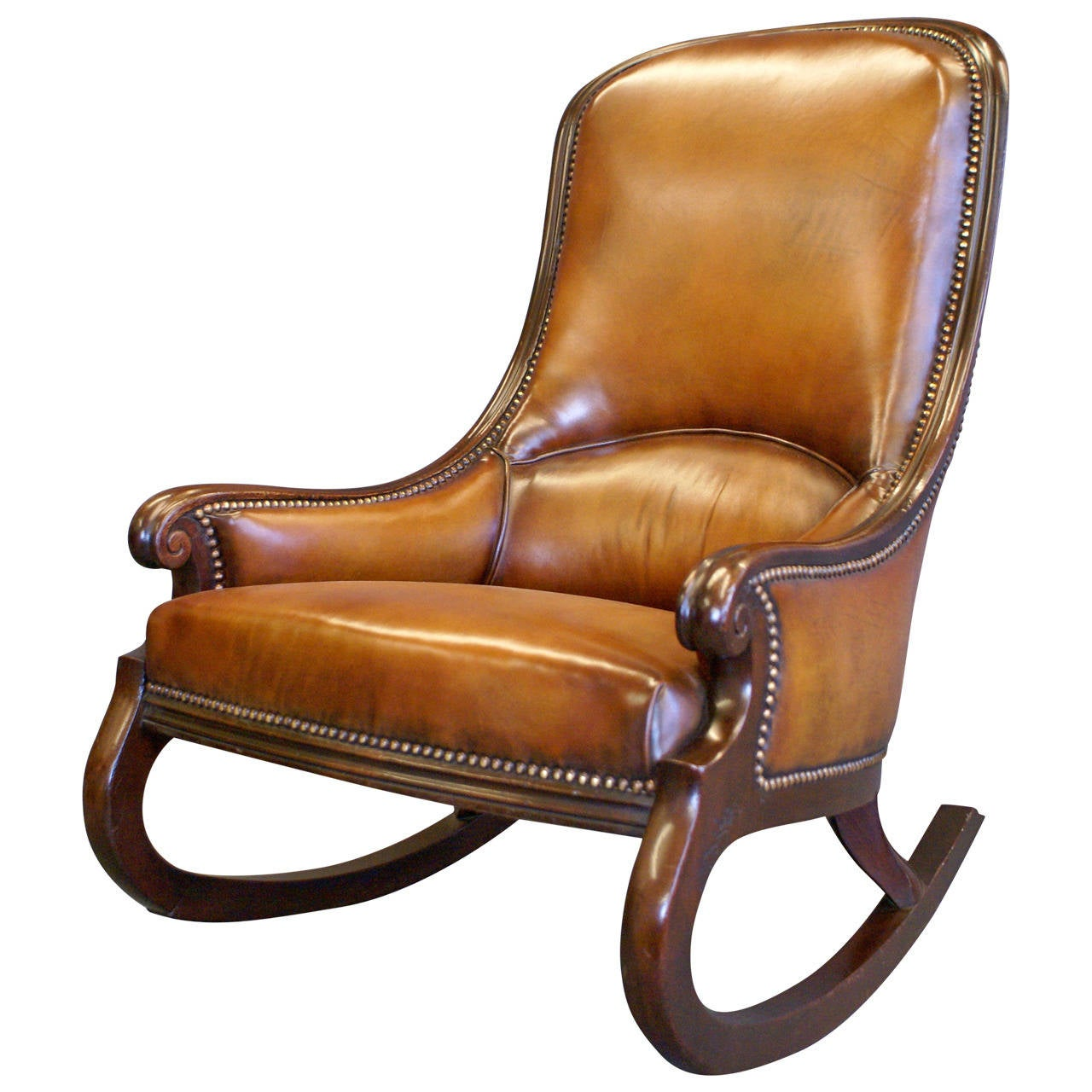 antique victorian folding rocking chair swivel manufacturers very rare mahogany at 1stdibs