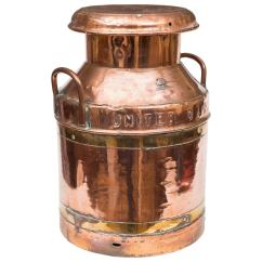 Stool Chair Red Revolving Repair In Indore A Brass And Copper Milk Churn At 1stdibs
