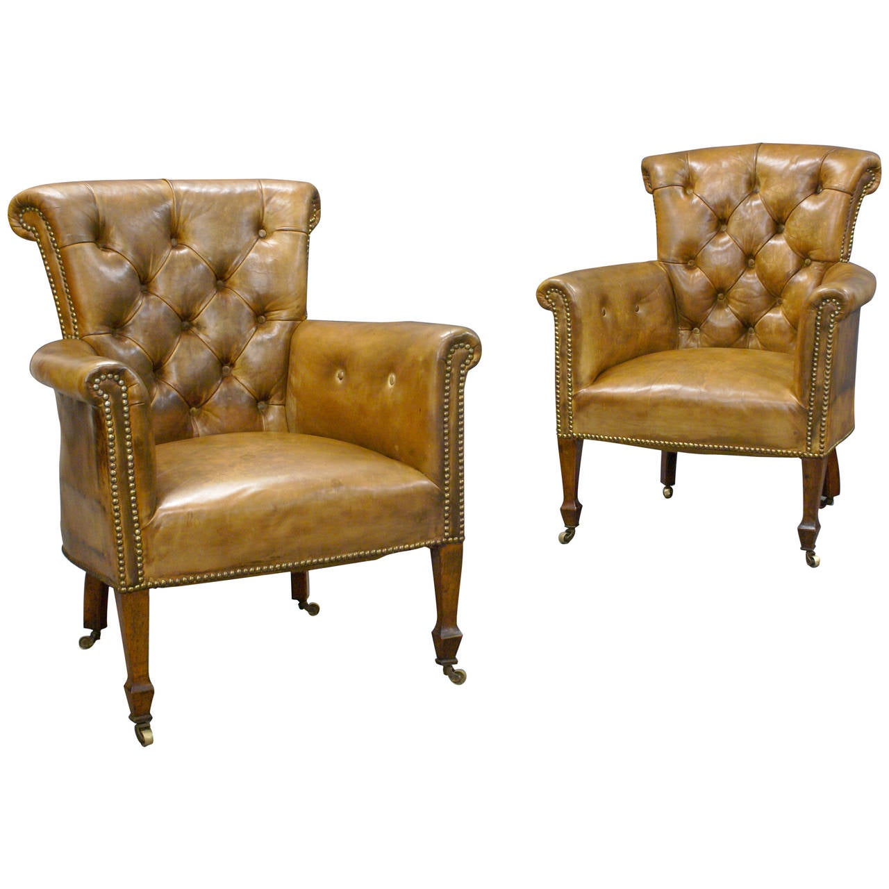 Small Arm Chairs Small Pair Of Edwardian Library Armchairs At 1stdibs
