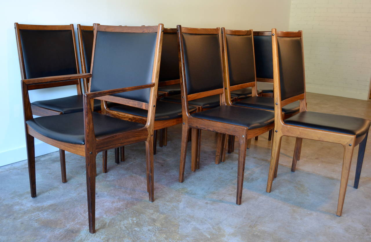 restaurant chairs for less captain america table and chair set 12 rosewood leather dining by jl møller
