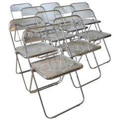 Acrylic Folding Chairs Burke 115 Chair Ten Quotplia Quot Lucite And Aluminum By Castelli