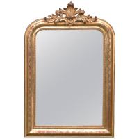 19th Century French Gold Gilded Mirror at 1stdibs