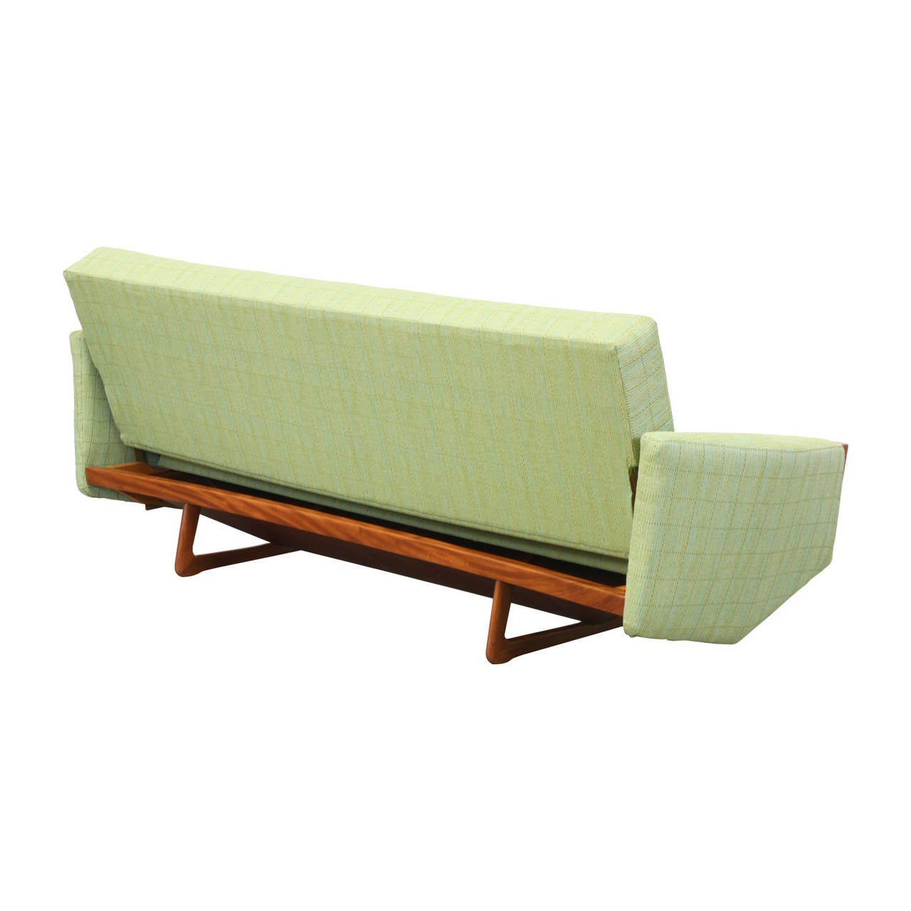 danish modern sofa bed rowe nantucket slipcover teak at 1stdibs