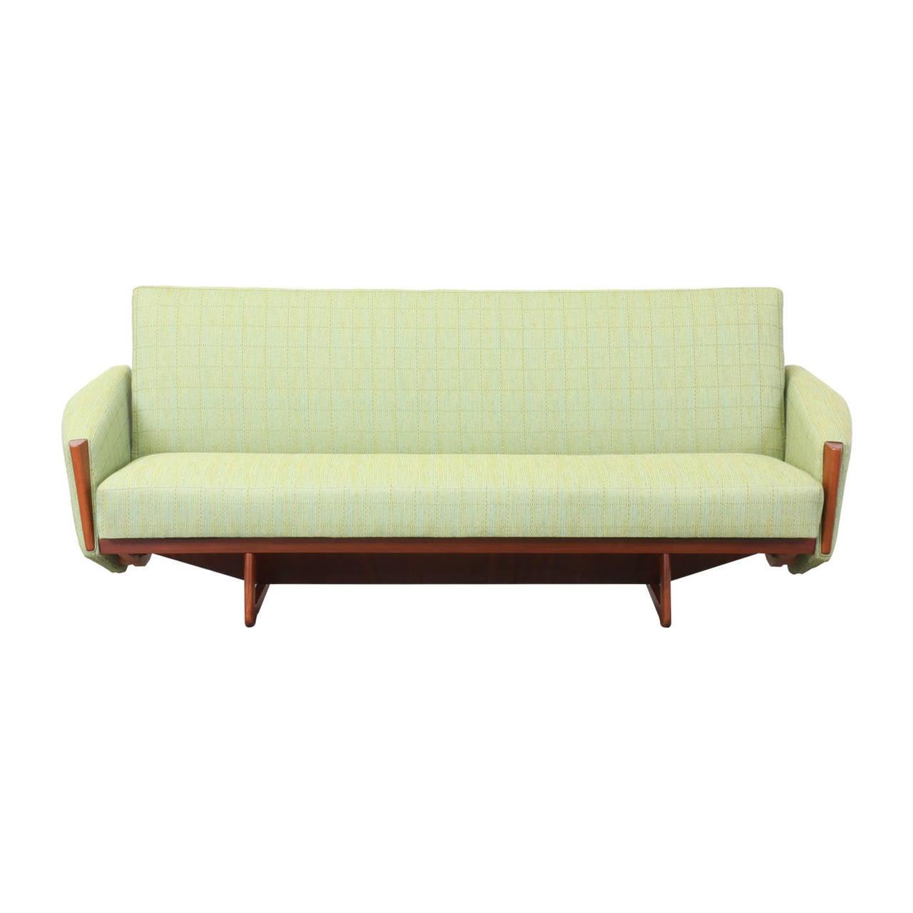 danish modern sofa bed sectional crate and barrel teak at 1stdibs