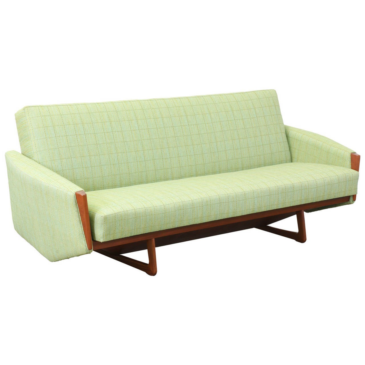 danish modern sofa bed leather donation value teak at 1stdibs