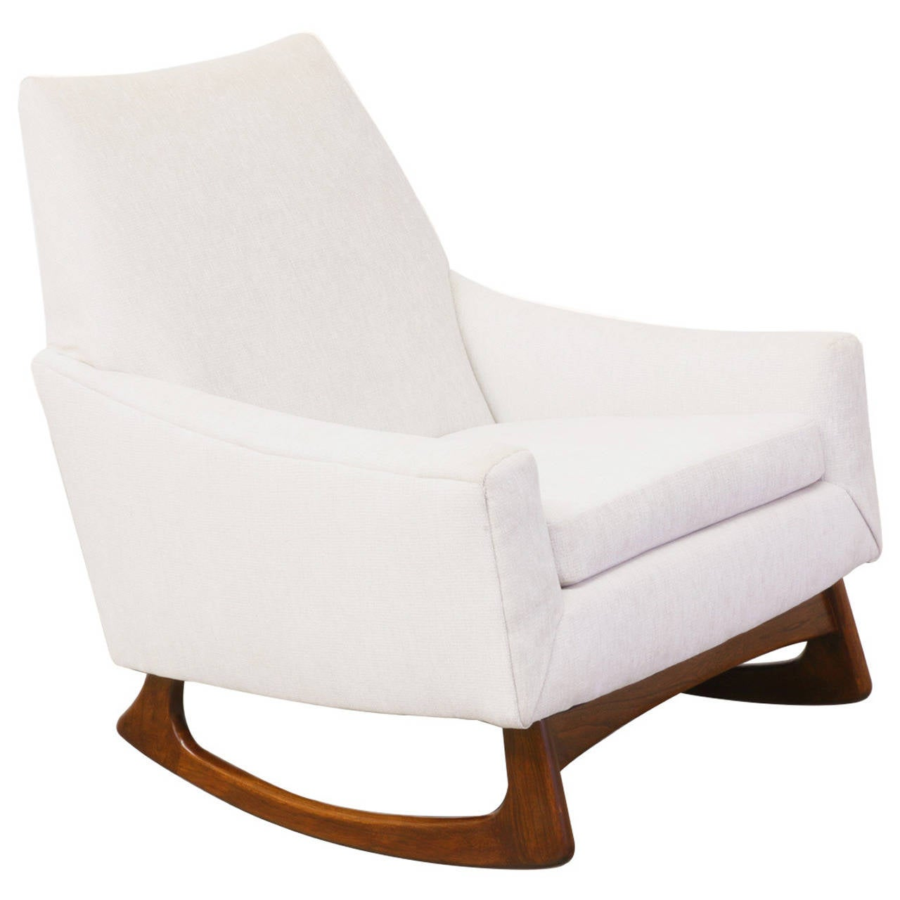adrian pearsall rocking chair burlap wingback for craft associates at 1stdibs