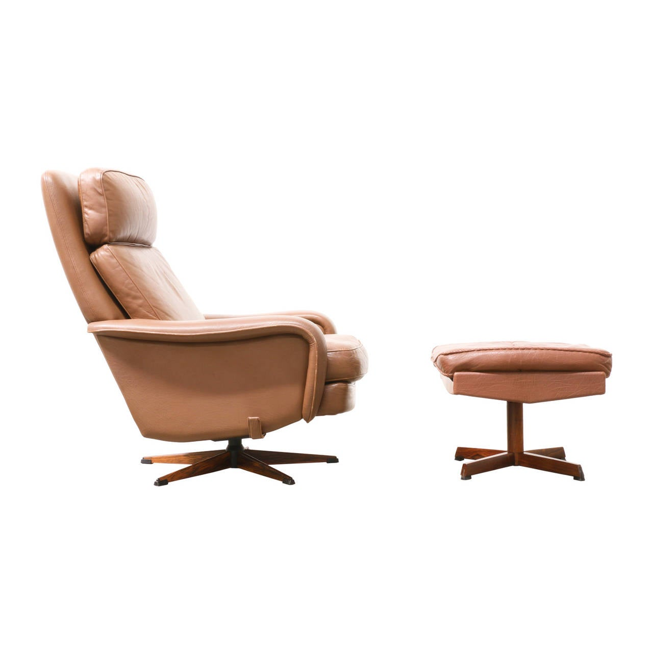 modern leather chair and ottoman wedding cover hire stirling danish lounge with at 1stdibs