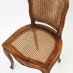 Dining Chairs With Caning Office Chair Parts Za Set Of 8 Caned French At 1stdibs Wood For Sale