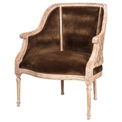 French Barrel Chair Parsons Slipcovers Canada Cane Back At 1stdibs