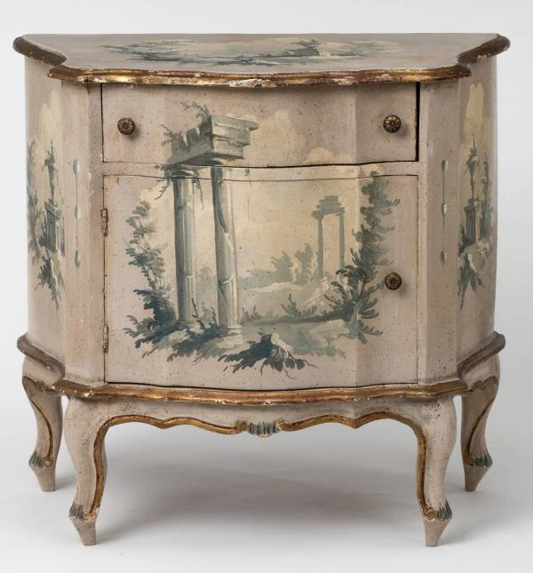 1930s Small Italian Painted Bombe Chest 1stdibs