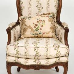 Leather Bergere Chair And Ottoman Best Posture Support Louis Xv Chaise Lounge For Sale At 1stdibs
