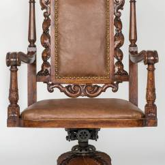 Swivel Chair Large Covers Limerick Executive Leather Desk For Sale At 1stdibs