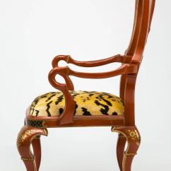 Tiger Print Dining Chairs Hanging Chair Indoor Ceiling Pair Of Red Lacquer Chinoiserie For Sale At 1stdibs
