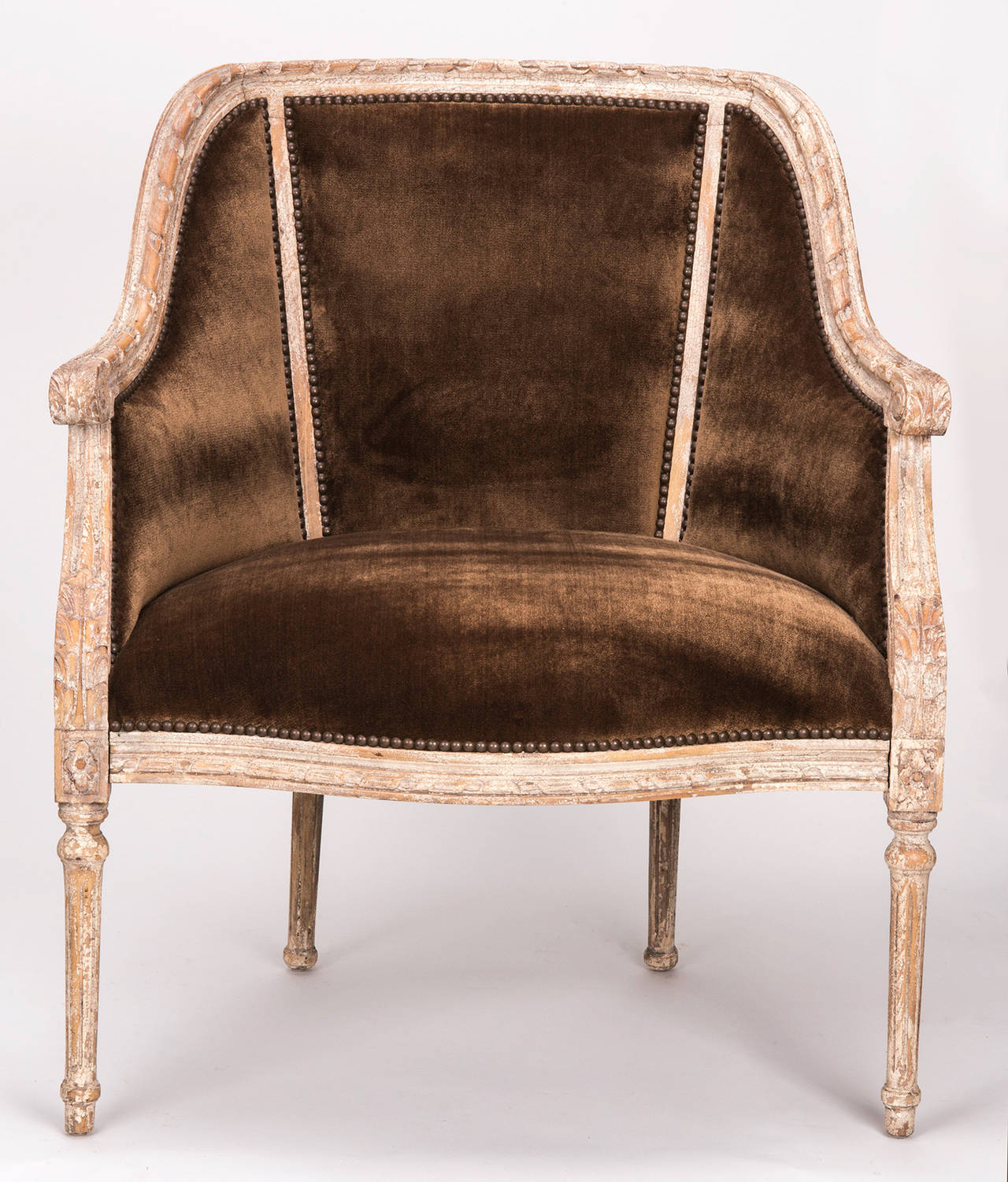 cane barrel chair madeleine side french back at 1stdibs