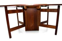Mid Century Walnut Gateleg Dining Table at 1stdibs
