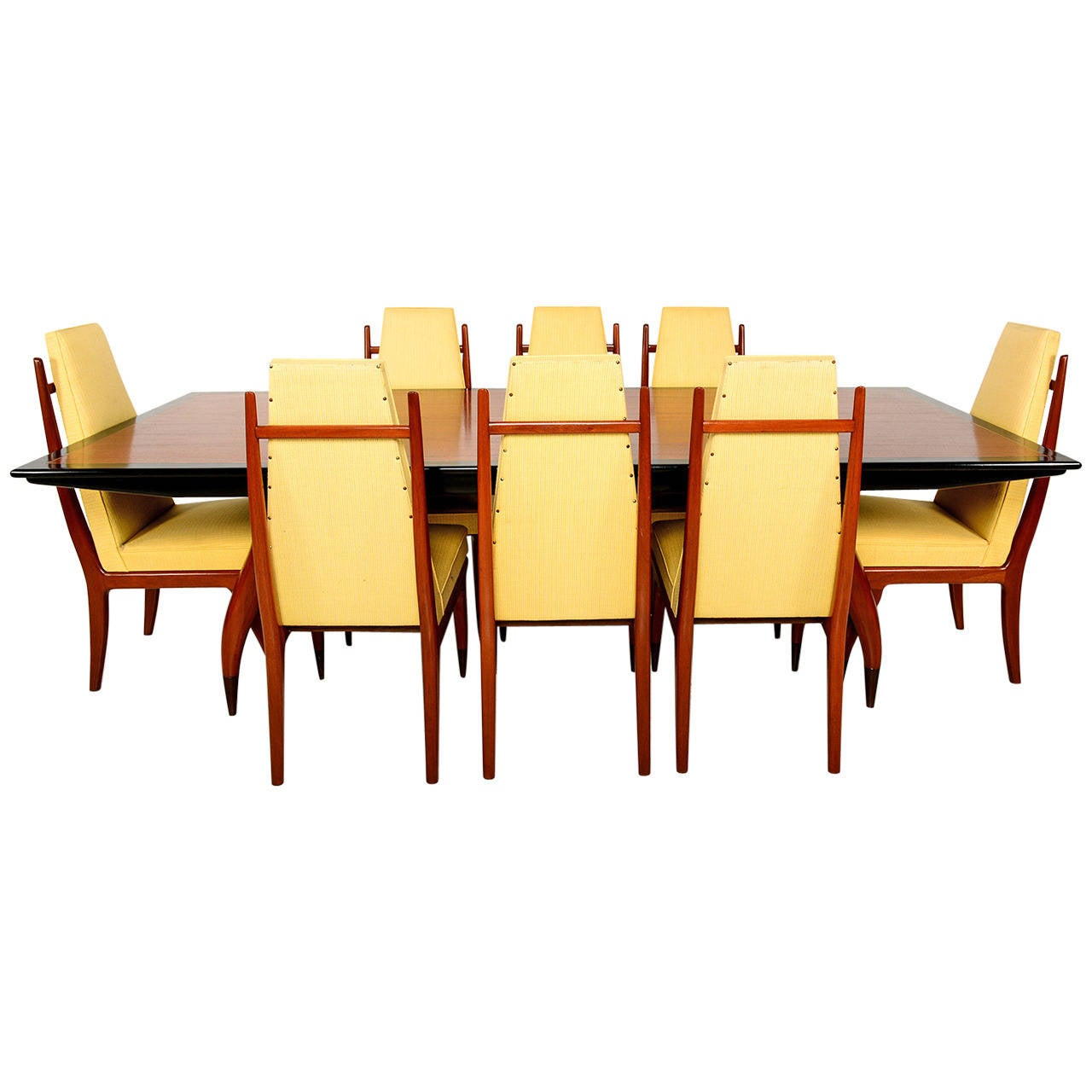 mexican dining room table and chairs pub mid century modesnist set attributed to