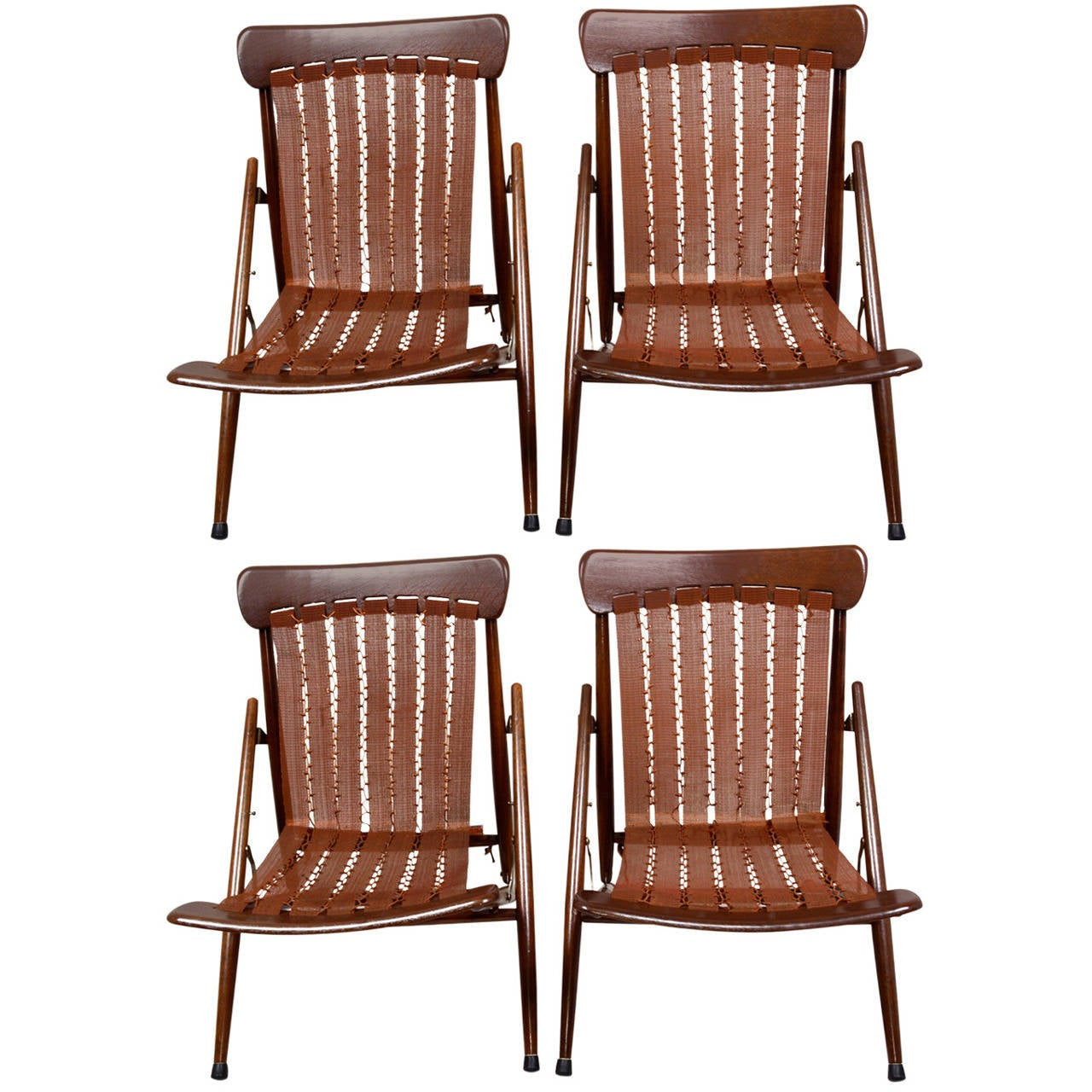 Folding Sleeping Chair Vita Sleep Folding Lounge Chairs At 1stdibs