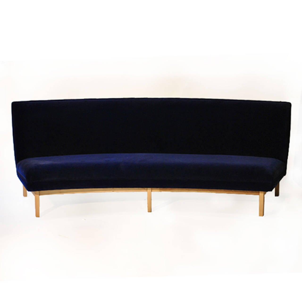 dux sofa by folke ohlsson indian modern design four-seat semicircular sofa. at 1stdibs