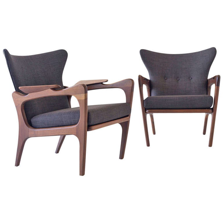 adrian pearsall chair designs wood and metal dining chairs low wing for craft associates incorporation sale