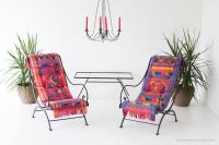 Mid-Century Wrought Iron Lounge Chairs For Sale at 1stdibs