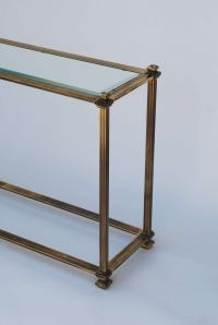 Mastercraft Antique Brass Entry or Sofa Table at 1stdibs