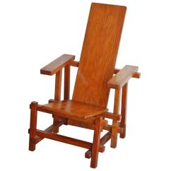 Gerrit Rietveld Crate Chair Swivel Not Staying Up Architectural Plank In The Style Of At 1stdibs