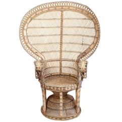 Adrian Pearsall Chair Design In Wood Wicker Throne At 1stdibs
