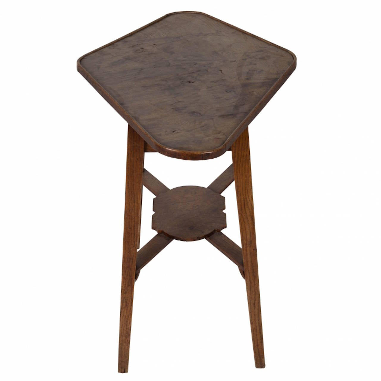 weird shaped chairs tripp trapp chair instructions an unusual oval burr oak side table c 1860 at 1stdibs