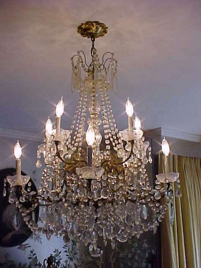 Grand Doyenne Decorator Sister Parish Decorated The Harkness Estate Mansion And Selected Marvelous Crystal Chandelier