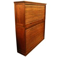 Oak Roll Top Cabinet with Pigeon Holes at 1stdibs