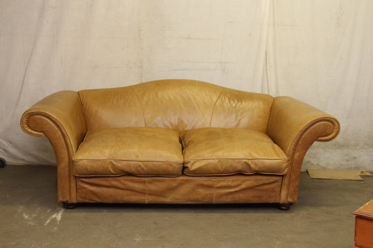 baker leather sofas ellyson slipcovered queen sleeper sofa 1950s oversized french with down filled ...