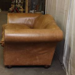 Down Filled Leather Sectional Sofa Mexico Futon Bed With Mattress Review 1950s Oversized French