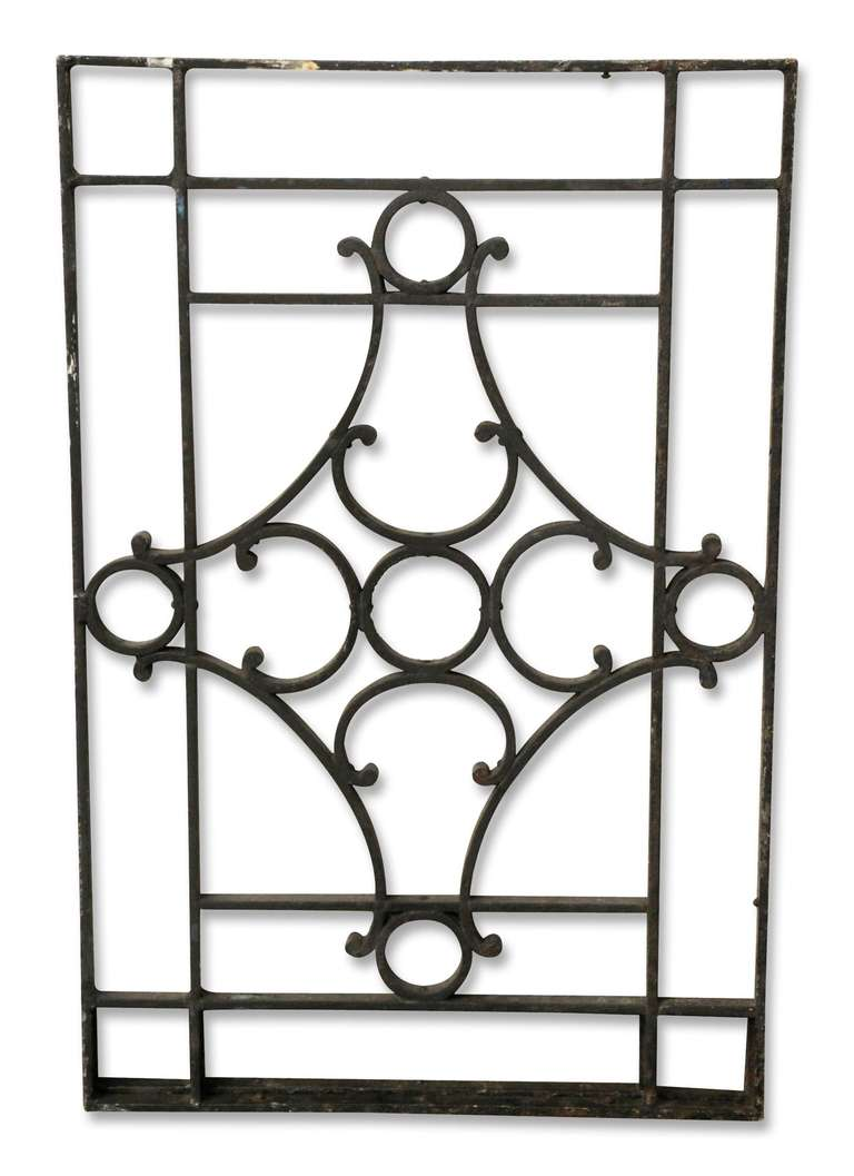 Pair of Iron French Balcony Grills at 1stdibs