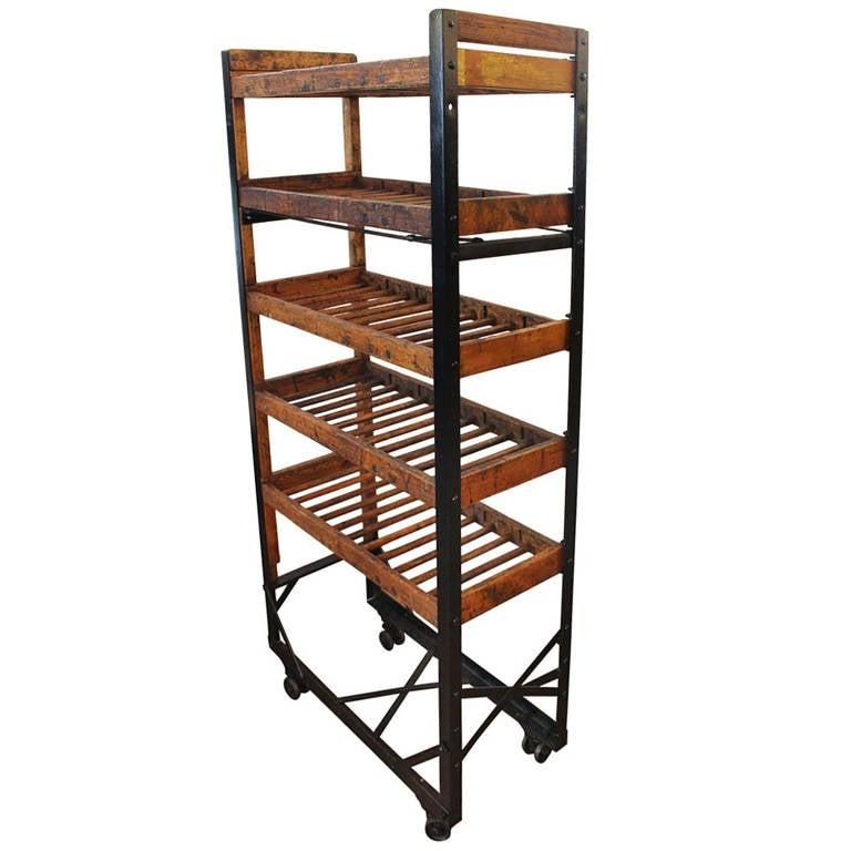 antique narrow shoe rack